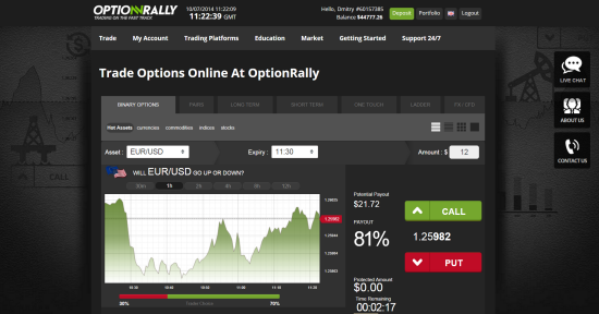 компания optionrally дизайн площадки