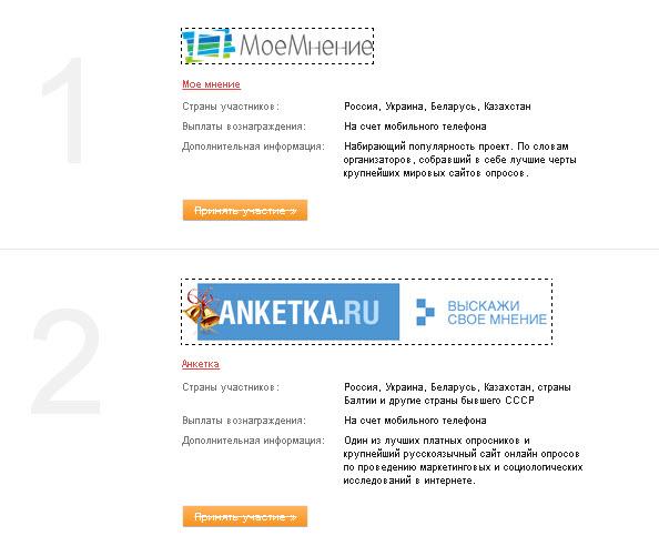 заработок в интернете опросы в украине