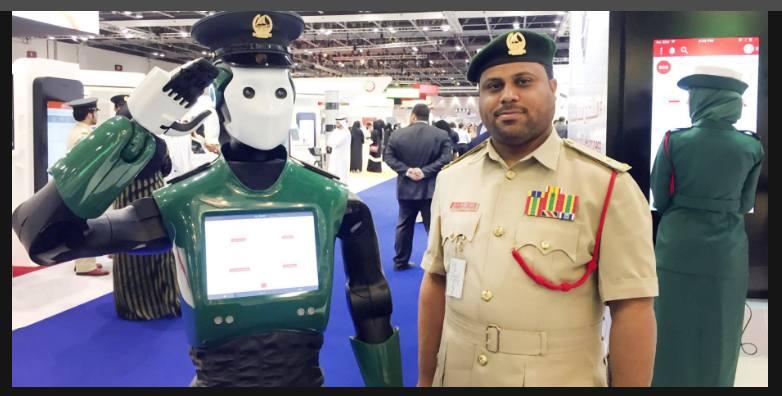 робот полицейский в дубае