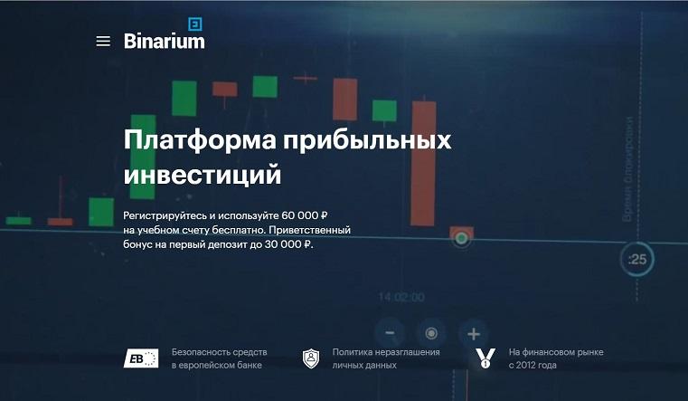 торговая платформа binarium com